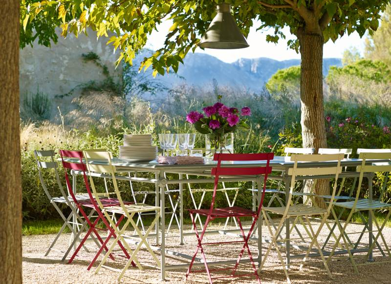 Pep up your outside space with stylish tables and chairs the room edit - Garden in small space collection ...