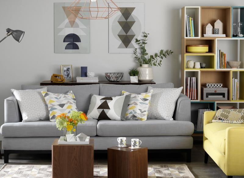 Create a practical living room suitable for family life for Young modern living room