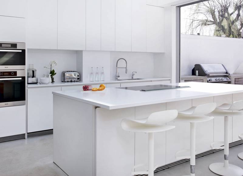 White Kitchen Worktops white kitchens with the wow factor - the room edit
