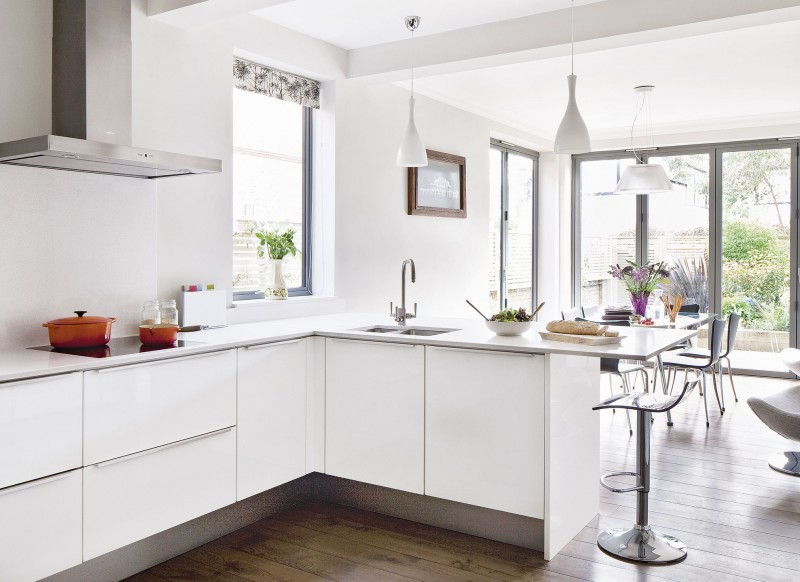 White Kitchen Extensions open up with space-enhancing ideas for kitchen extensions - the