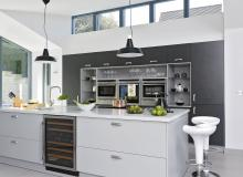 Modern Grey Kitchen with Streamlined Appliances