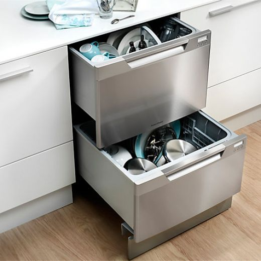 Fisher & Paykel DD60DCHX7 Built-in Double DishDrawer Dishwasher in Stainless Steel