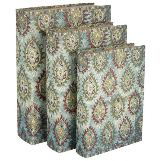 Blue Ottoman Box Files, Set of 3