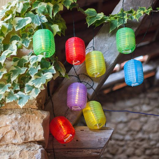 Multi Coloured Lantern Solar Lights
