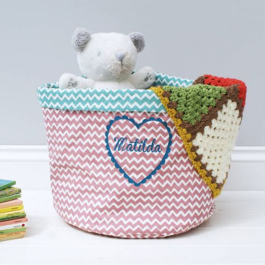 Personalised Heart Storage Basket