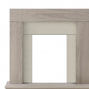 Adam Fire Surrounds Malmo Unfinished Oak Fire Surround