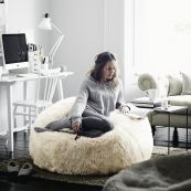 Long-haired Sheepskin Bean Bag