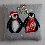 Penguin Light Up Christmas Cushion