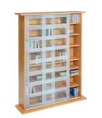 Sliding Glass Door DVD and CD Storage Unit