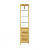 Louvred Tall Cabinet