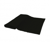 Black Ribbed Table Runner