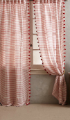 Reise Curtain in Red