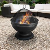 Deep Fire Pit with Grill