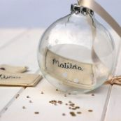 Personalised Glass Bauble