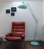 Powder Blue Angled Standard Lamp