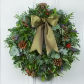 Red Berry & Herb Door Wreath