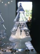 Glass Christmas Tree Jar