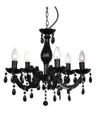 MiniSun Theresa Five Light Crystal Chandelier