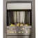 Helios Inset Electric Fire in Brushed Steel