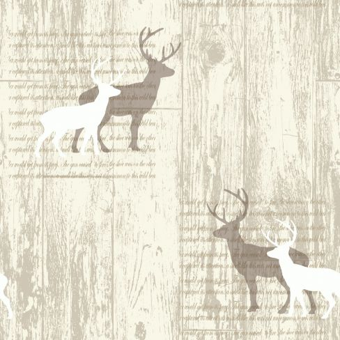 Arthouse Stag Cream Wallpaper