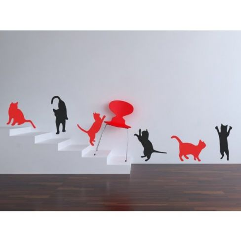 Curious Cats Wall Stickers