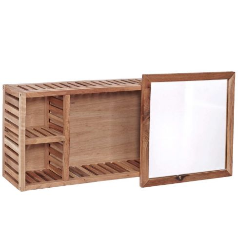 Nature Spa Wall Shelf with Mirror