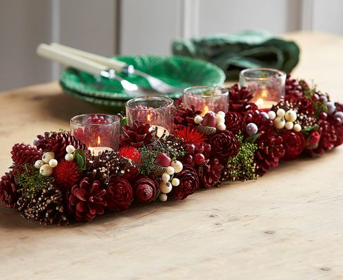 Victorian-style Dried Flower Candle Holder