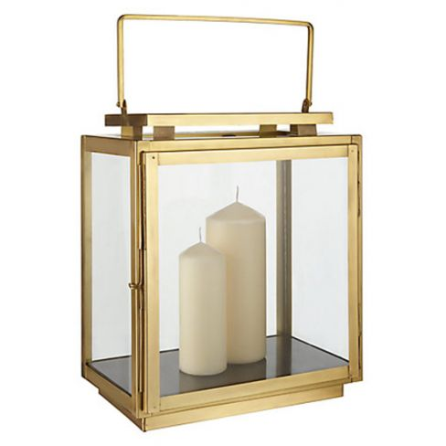 Brass Marble Base Lantern
