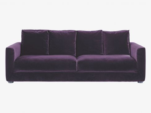 Rupert 3-seater Sofa Bed in Purple Velvet