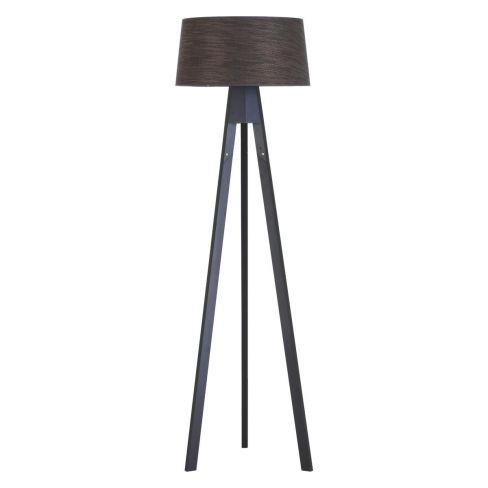 Dark Stained Wooden Tripod Floor Lamp Base