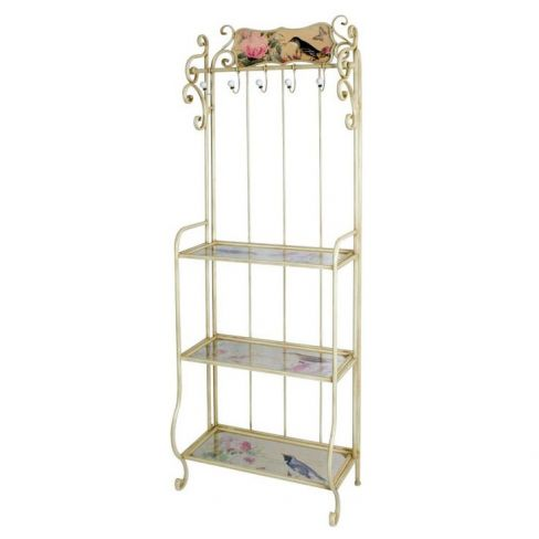 Iron and Painted Shelves Hall Stand