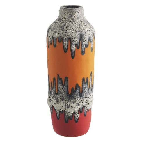 Volcano Multi-coloured Reactive Glaze Ceramic Vase
