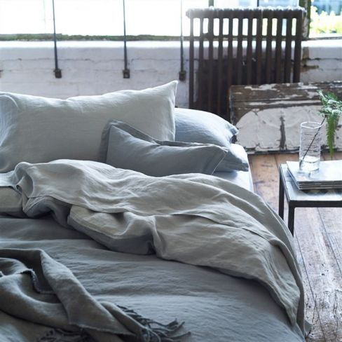 Biella Pale Grey & Dove Bed Linen