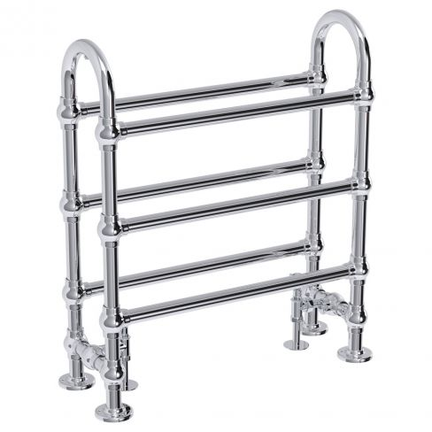 Windsor Traditional Chrome Freestanding Towel Rail