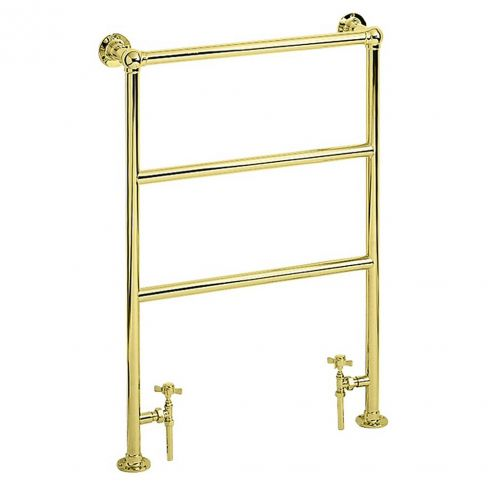 Heritage Vintage Gold Victorian Heated Towel Rail