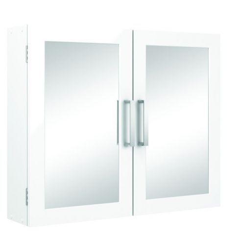 Wickes Bathroom Double Mirror Cabinet in White