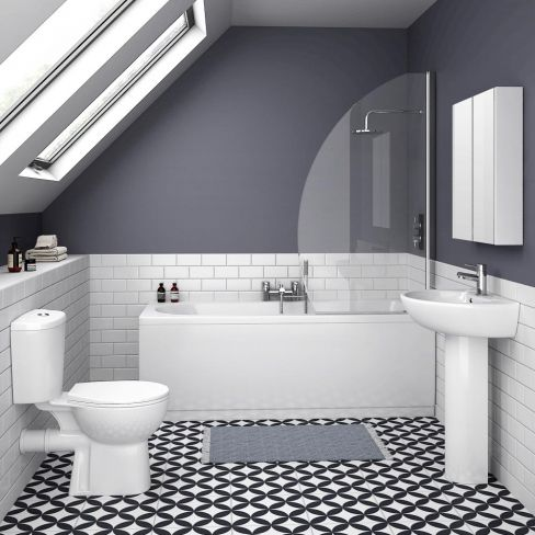 10 Of Best Budget Bathroom Suites on traditional bathroom designs small spaces