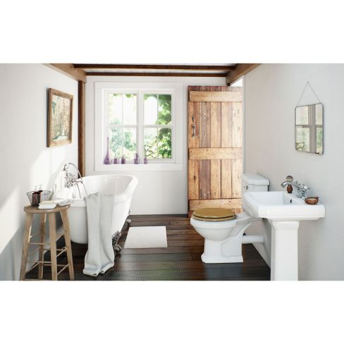 Cavendish Oak Bathroom Suite with Roll Top Bath