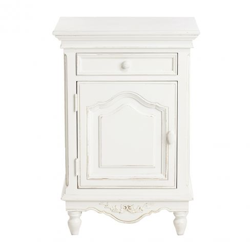 Romance White Bedside Table