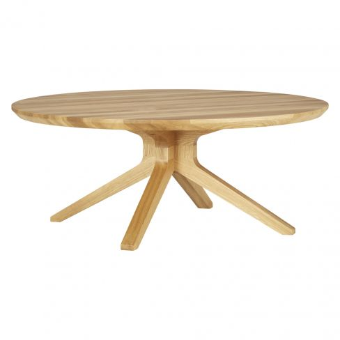 Case Cross Round Oak Coffee Table