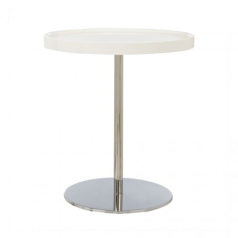Calligaris High Round Coffee Table in White