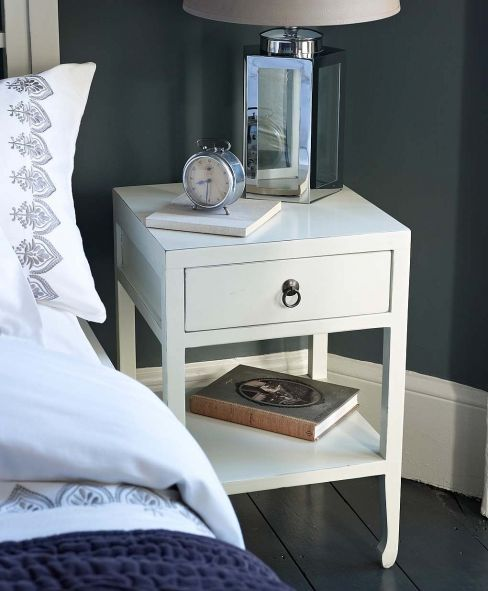Mandara White Bedside Table from Lombok