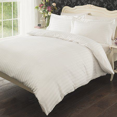 Luxury By George Sateen Stripe Bedding Set