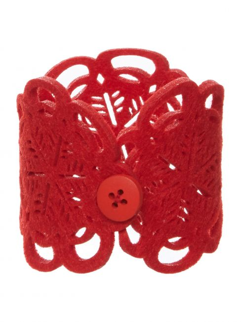 Linea Joy Red Felt Napkin Ring