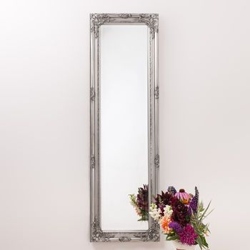 Ornate Pewter Full Length Mirror