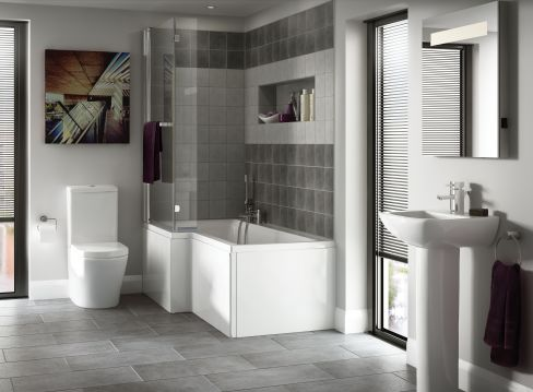 Priveno Bathroom Suite with Asuni Shower Bath