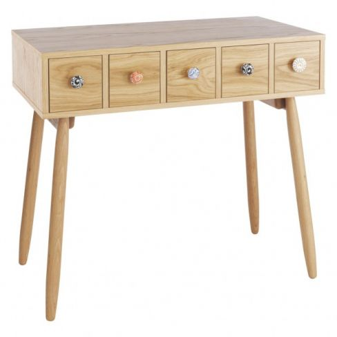 Fleur Oak Dressing Table Hallway Storage