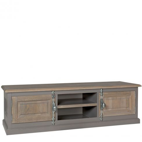 New England Country Oak Low TV Unit