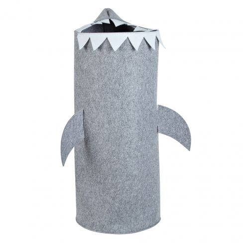 Little Home Felt Shark Laundry Bin