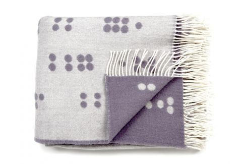 Dot Gray Wool Throw by Rosenbergcph
